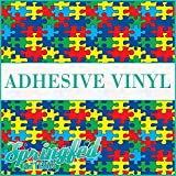 AUTISM Puzzle Pattern Craft Vinyl 3 sheets 12x12