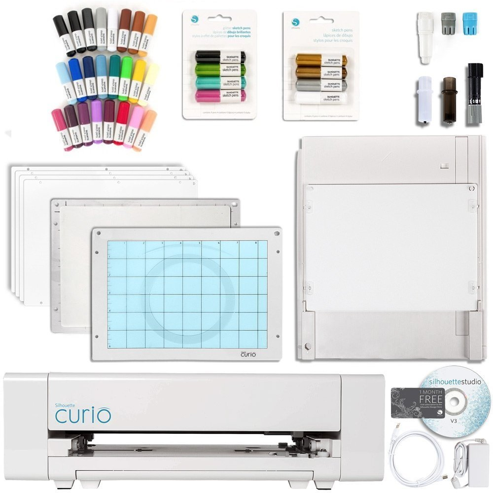 Swing Design SCBD-28 Silhouette Curio Digital Crafting Machine with Sketch Pens and Pen Holder