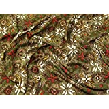 7e3d155d279 Geometric Floral Print Stretch Jersey Dress Fabric Multicoloured - per metre