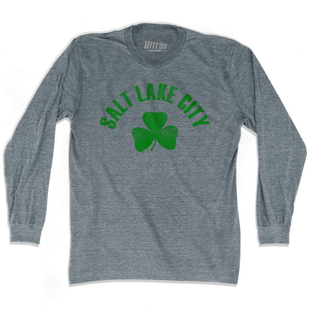 Salt Lake City Shamrock Tri-Blend Long Sleeve T-Shirt