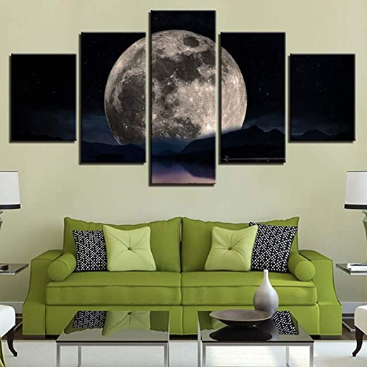 Xutongrui Lienzo Abstracto Pintura Hd Prints 5 Unidades Sol ...