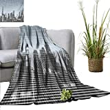 Best GENERIC City Backpacks - Digital Home Throw Blanket City Skyline with Futuristic Review