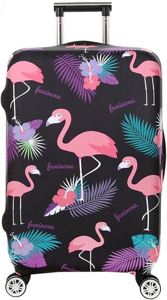 Cubierta de Equipaje en Flamingo Form,Duradero Protector Lavable Plegable, el tamaño del Protector de la Maleta se Ajusta 18-32 Pulgadas (Flamenco 5, S)