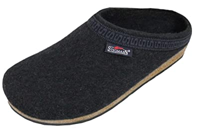 f539a0c2f Amazon.com | Stegmann Men's Wool Clog with Poly Sole, Navy | Mules & Clogs