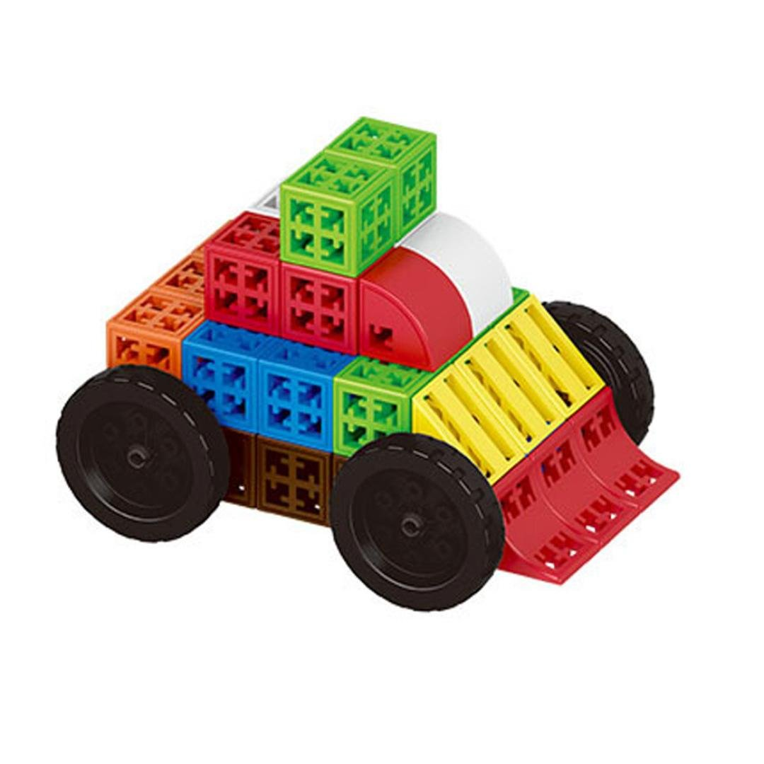 Shybuy Large Wooden Blocks Construction Building Toys Set Stacking Bricks Board Games 48 Pieces (Colorful)