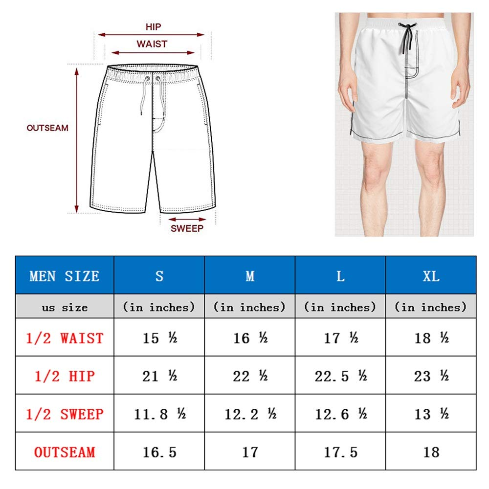DNmtwH Fashion Quick Dry Fully Lined Pants Drawstring Astronaut Space Robot Swimming Trunks Shorts
