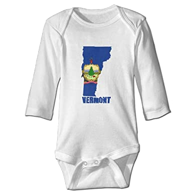 Amazon Com Bbkid Born In Vermont Funny Baby Bodysuit Clothes For