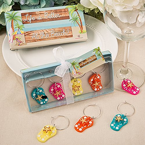 Colorful Beach Themed Flip Charms