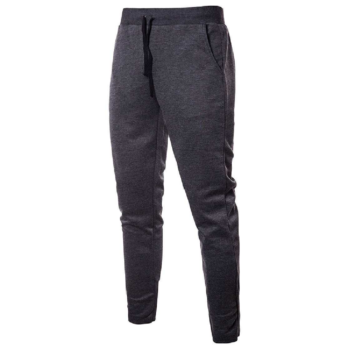CrazyDay Mens Simple Silm Fit Hip Hop Drawstring Waist Fit Athletic Running Trousers
