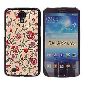 MOBMART Carcasa Funda Case Cover Armor Shell PARA Samsung Galaxy Mega 6.3 - The Floral Encirclement