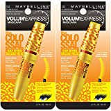 Maybelline New York Volum' Express The Colossal Cat Eyes Washable Mascara Makeup, Glam Black, 2 Count