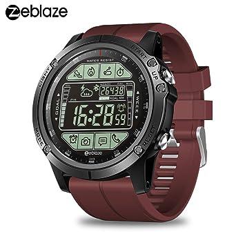 Zeblaze Vibe 3S Smartwatch con Bluetooth 4.0 Monitor de Actividad Podómetro Calorías Distancia 5ATM Reloj Deportivo a Prueba de Agua para Hombres ...