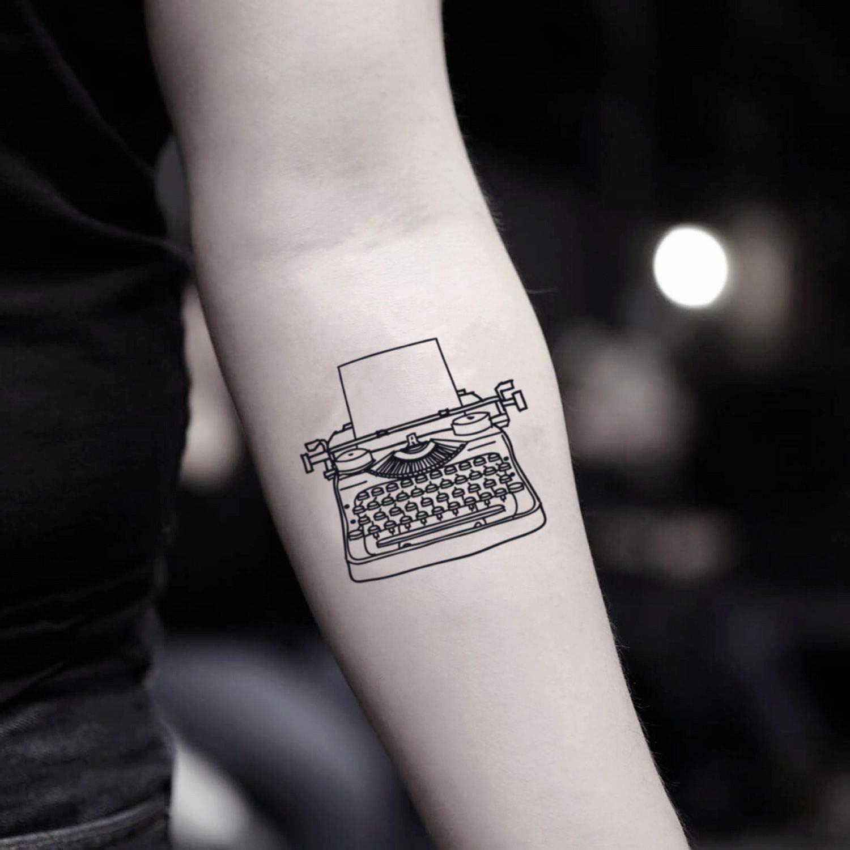 Tatuaje Temporal de Máquina de escribir (2 Piezas) - www.ohmytat ...