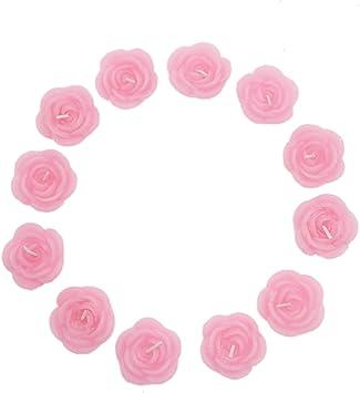 Amazon.com: AQUEENLY - Velas flotantes con forma de rosa ...