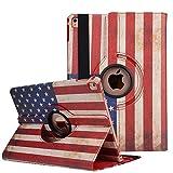 iPad 4 USA American Flag Case, PU Leather iPad Case,Sammid Vintage Retro American Flag 360 Rotation PU Leather Case for 9.7 inch iPad 2/3/4 - US Flag