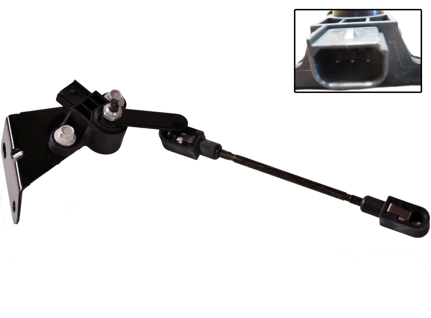 Suspension Auto Ride Leveling Height Sensor w/ Bracket Rear for 03-11 Ford Crown Victoria Lincoln Town Car Mercury Grand Marquis Replaces 8W1Z-5359-A 3W1Z-5359-AA