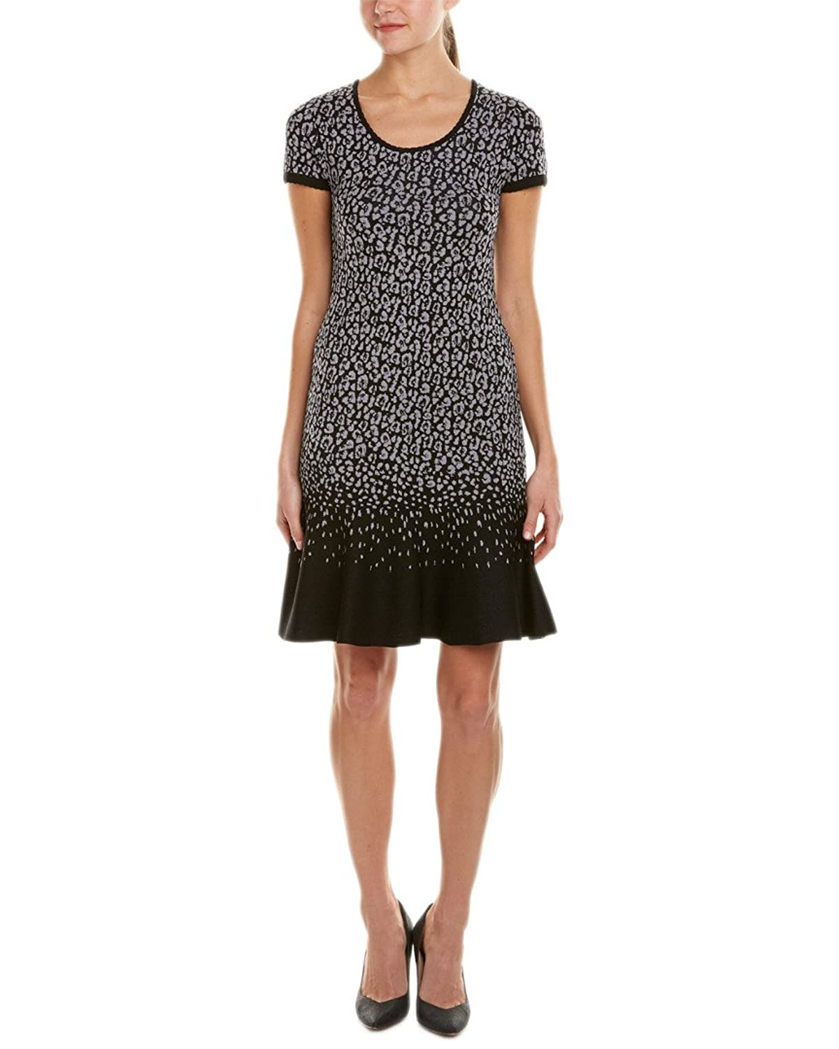Rebecca Taylor Womens Wildcat Sweater Dress, Black