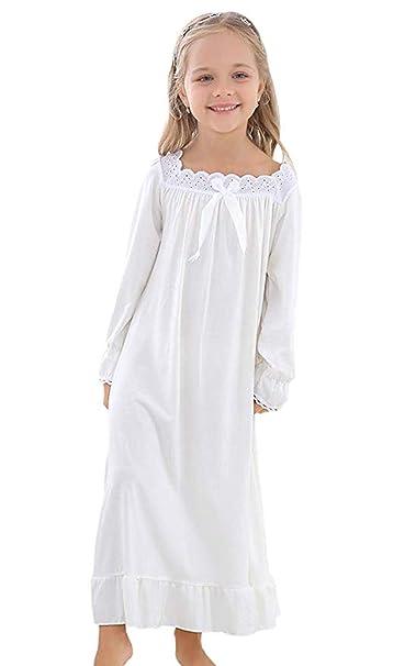 Amazon.com: Vencroma - Camisa de dormir de manga larga de ...