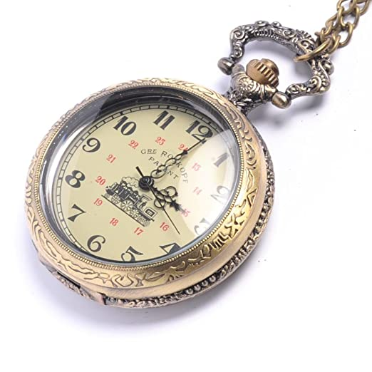 d414e4231 81stgeneration Men's Women's Analogue Mechanical Victorian Style Pocket  Watch Brass - 01glVCN077w: Amazon.co.uk: Watches