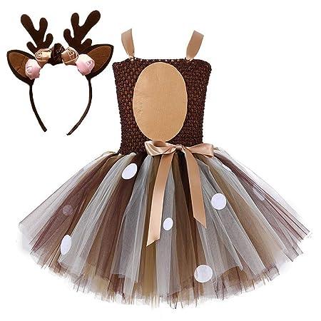 ZQSB Vestido de Traje de Navidad para niñas, Niños Xmas ...