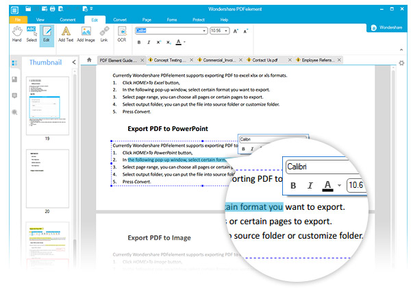 All-in-One PDF Editor--Wondershare PDFelement (Windows