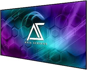 Akia Screens 145 inch Edge Free Fixed Frame Projector Screen 145