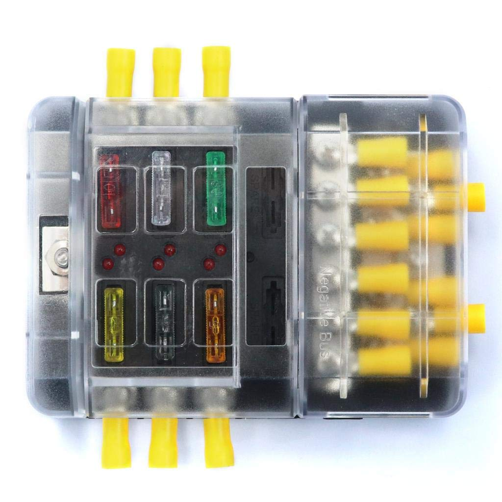 amazon com fastener \u0026 clip 6p fuse box 12p negative bus line bus Electrical Fuses Small to Largest amazon com fastener \u0026 clip 6p fuse box 12p negative bus line bus bar (screw) vehicle ship with fuse terminal f3664 z with 5a1 10a2 15a2 20a 25a 30a 1