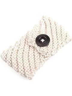 jelinda femmes filles en tricot Bouton avec crochet d oreille chapeau chaud  cheveux Bandeau 56a4057f3a8
