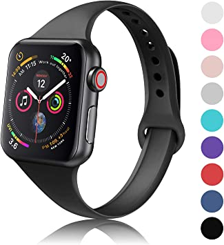 Amazon.com: DYKEISS - Correa de silicona para Apple Watch ...