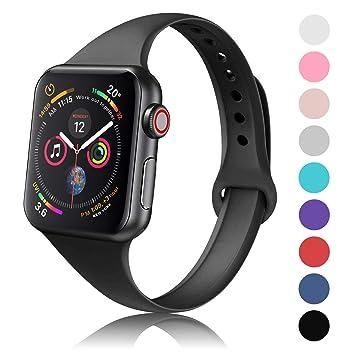 Amazon.com: DYKEISS - Correa de silicona para Apple Watch ...