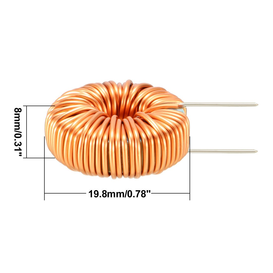 Uxcell 1pcs Horizontal Toroid Magnetic Inductor Monolayer Wire Wind Wiring Diagram Wound 100uh 20a Inductance Coil A18061100ux0005