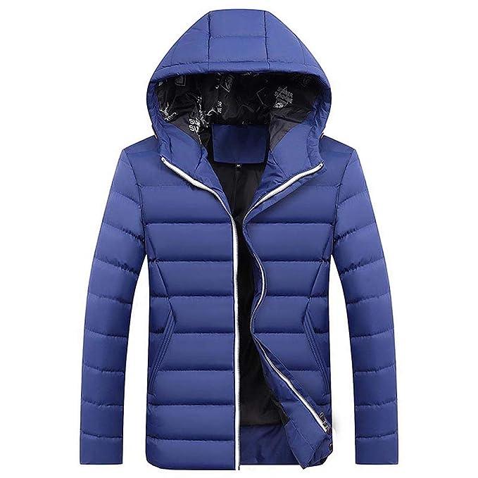 YanHoo Abrigos Hombre Invierno Chaqueta de algodón Gruesa con Capucha de Moda para Hombre Moda Hombre