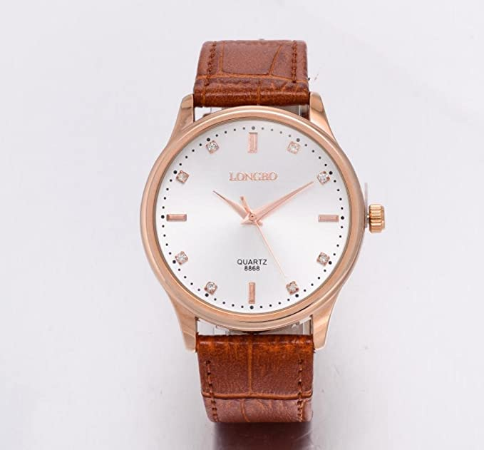 a9110e1b1f3ade Longbo orologi di marca di lusso da donna, in vera pelle imitazione di  acqua di orologio al quarzo orologi per donna: Amazon.it: Orologi