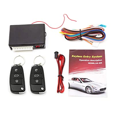 Eunavi Universal Car Vehicle Security Car Door Lock Keyless Entry System Remote Central Control Box Kit: Automotive