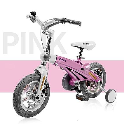 16 Pulgadas Unisexo Bicicleta para niños Muchachos Chicas Marco de aleación de magnesio Bici de los