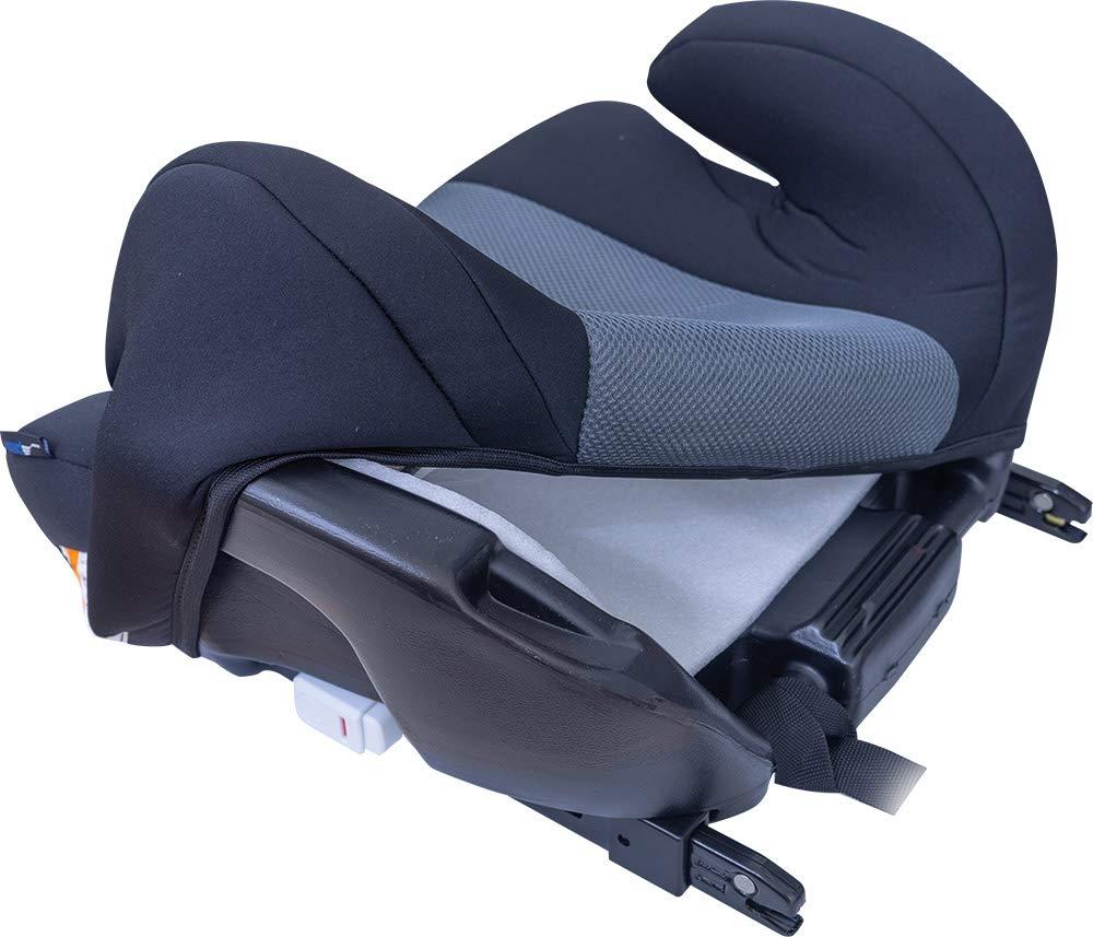 color gris Alzador de asiento infantil con Isofix, HDPE seg/ún ECE R44//04 Petex 44430818 Max Plus 152