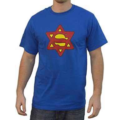 6d750e46bb Image Unavailable. Image not available for. Color: Super Jew T-Shirt Funny  ...
