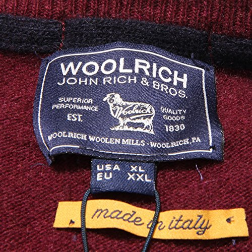Uomo Men xxl Lana Sweater Wool Maglione neck 1160v V Woolrich Exqz7p8ww