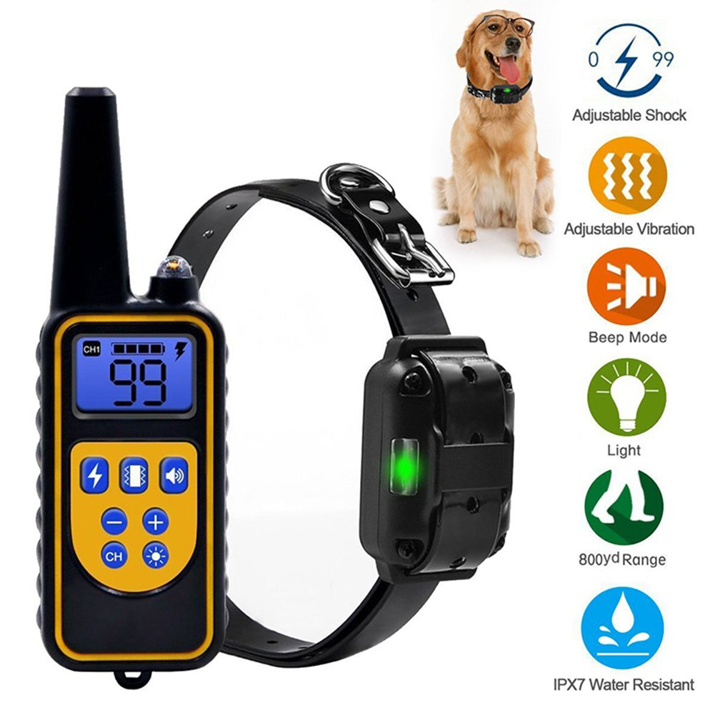 A Shock Collar for Dogs,Dog Training Collar 800 Yard Dog Shock Collar with Remote