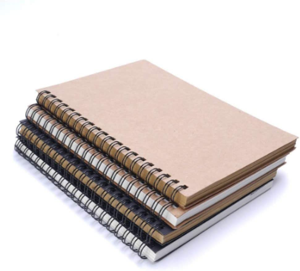 Black Cover Privacy Diary Drawing Painting Paper Graffiti Sketch Book Notebook G