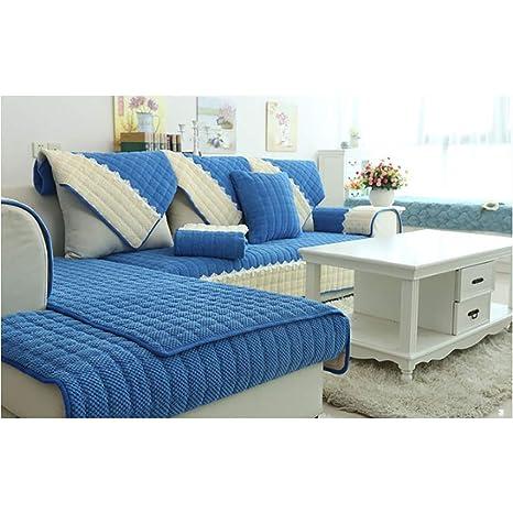 Amazon.com: Mlady - Cojín de sofá de felpa, forma de L ...