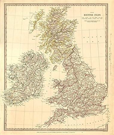 Map Of Uk Ireland Counties.Amazon Com British Isles United Kingdom Ireland Counties Towns