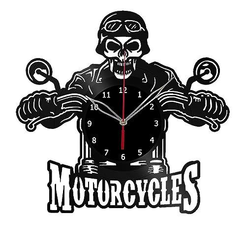 Amazon Com Motorcycles Design Vinyl Wall Clock Handmade Gift For