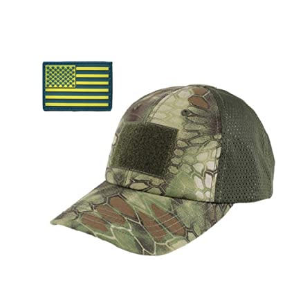 DEKYE Tactical Baseball Hat for Men Camouflage Mesh Cap With American Flag  Patch Operator Camo ( 96146a08729