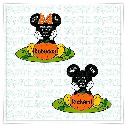 PERSONALIZED Disney Inspired Halloween Pumpkin Door Magnet. Custom Disney Cruise Mickey Pumpkin Magnet for Stateroom Door. FREE (Printables Halloween Pumpkin)