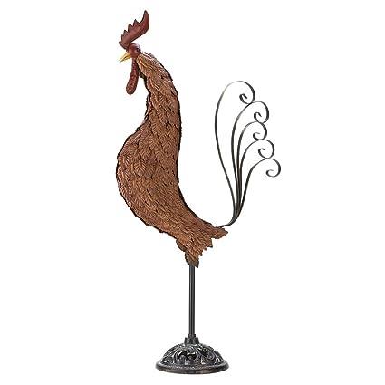 Wonderful Gifts U0026 Decor Metal Rooster Wrought Iron Outdoor Garden Yard Statue