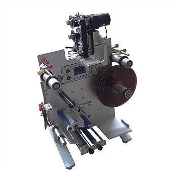Cueffer Máquina Semiautomática de Etiqueta 220V 150W Máquina Etiquetadora Máquina Etiquetadora para Botellas Redondas Máquina de