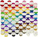 Mira Handcrafts 60 Yarn Bonbons – Total of 1312 Yard Acrylic Yarn for Knitting and Crochet - Yarn Bag for Storage and Accessories Included with Each Pack