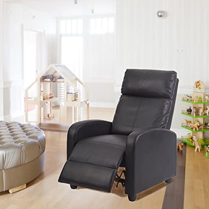 amazon com bestmassage recliner accent club chair single sofa couch rh amazon com single sofa with footrest leather sofa with footrest