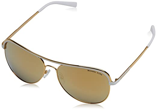 31594bc9cb50d Image Unavailable. Image not available for. Color  Michael Kors VIVIANNA I  MK1012 Sunglasses 11127P-58 - Gold White Frame
